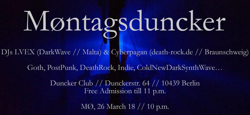 26.03.2018: Møntagsduncker Berlin..