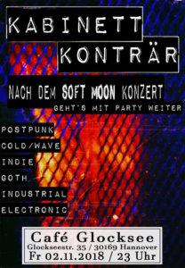 02.11.2018: The Soft Moon + Kabinett Konträr in Hannover