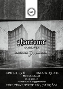 31.08.2019: Phantoms Party in Hannover