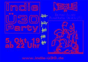 05.10.2019: 25. Indie-Ü30-Party in Braunschweig