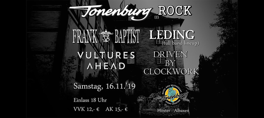 16.11.2019: Tonenburg Rock in Höxter