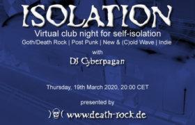 19.03.2020: Isolation #1 Livestream