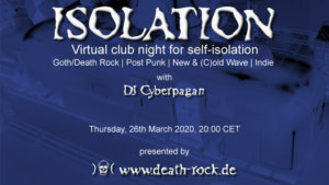 26.03.2020: Isolation #2 Livestream