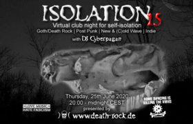 25.06.2020: Isolation #15 Livestream