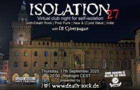 17.09.2020: Isolation #27 Livestream