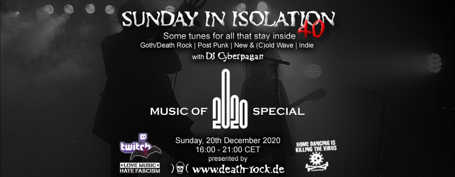 20.12.2020: Sunday in Isolation #40 Livestream