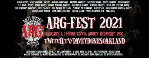 01.01.2021: ARG! Fest 2021 Livestream