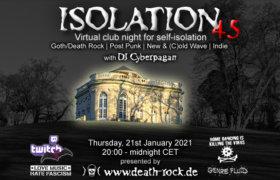 21.01.2021: Isolation #45 Livestream