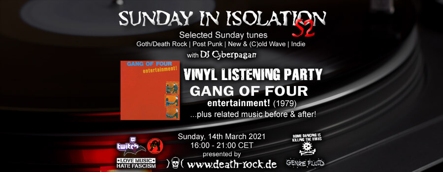 14.03.2021: Sunday in Isolation #52 Livestream