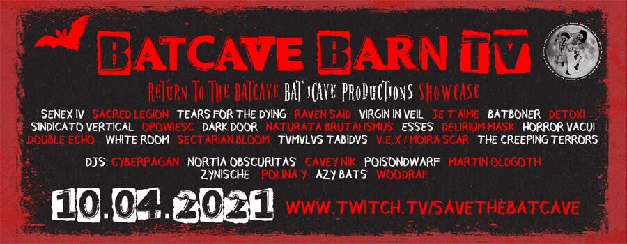 10.04.2021: Batcave Barn TV Livestream